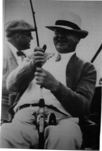 Herbert Hoover fishing in the Keys. Like you to consider that you should never trust a President who doesn't fish!
