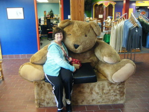 Barbara just loves stuffed bears. A visit to the Vermont Bear Company was special!