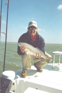 Wade Boggs and his first redfish in the Keys!