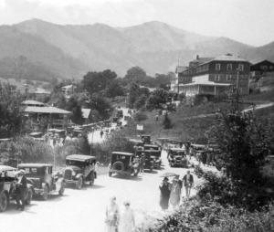 A scene from 1920's in Janaluska, during a special event.
