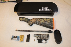 Lightweight with two clips  , survival rifle comes in black and camo and shoots straight and fast 1