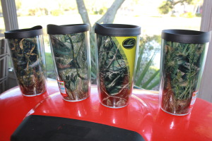 Bass, Crappie, Walleye and a Redfish are depicted in these new Tervis Tumblers.