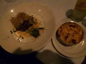 Mac and cheese lobster and a filet! Where is heaven on earth? This plate was!
