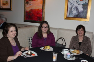 Over dessert. Barb and the fine ladies from Florence relaxed with some of the best desserts in the South!