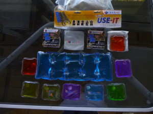 A representation of some of the Click-It Hot products you'll see at the show! These are for medical and sports use!