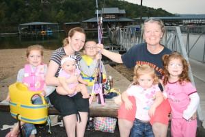 Outdoor Florida Magazine Editor Visited  Cedar Lodge Docks! My favorite family picture. Yes, these children are being taught how great it is to go fishing!!