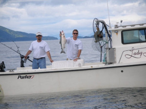 Wounded Warrior salmon fishing in Kodiak, AK.