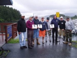 Wounded Warrior group. They received plaques from our Coast Guard hosts for their fishing expertise!