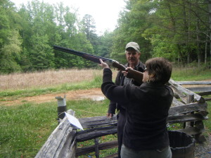 Barb shooting skeet in Virginia! Shes good at it!