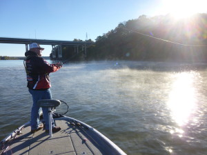 Bass casting in an early morning mist!