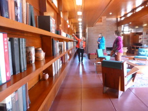 For learned people, a terrific library is a must! Notice the indirect natural lighting!
