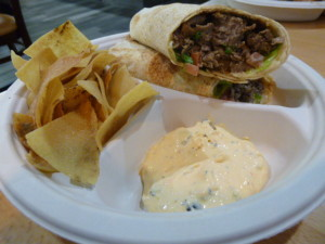 A steak wrap to remember! Perfectly tasty and I'm going back to Wakim's!