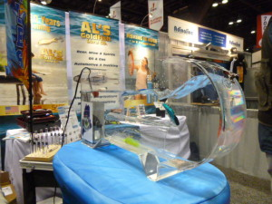 Award Winning AL's Goldfish Lures swimming their paces at booth 830 at the ASI Branding Show!