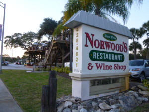 """Norwood's Eatery and Bar Sports a Treehouse and some of the best vittles I have ever eater. The restaurant has been around since 1946 and has evolved into a uniquely special place to visit and """"sup."""""""