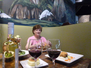 Lunch at the Cork Screw was a memorable indulgence in some of the best fare of this and many other trips as well!