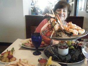 Virginia Beach and the seafood is easy!  And, very, very fresh and good!