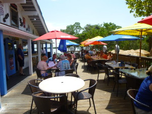 Outdoor patio of the Fishery Restaurant that is also dog friendly!