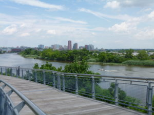 Looking back towards City of Wilmington from the Environmental Center.
